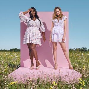 LoveShackFancy Lou Double Ruffle Dress, XS